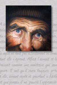 Alfred - acrylique sur toile et plaque aluminium 100x150cm - © LEROY Christian