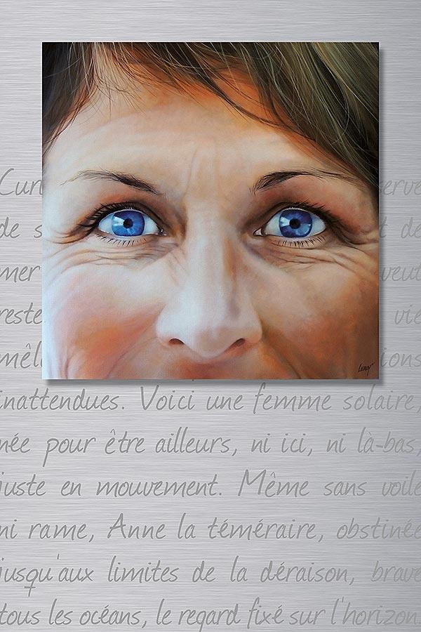 Anne – acrylique sur toile et plaque aluminium 100x150cm – © LEROY Christian