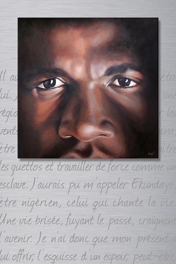 Ekundayo - acrylique sur toile et plaque aluminium 100x150cm - © LEROY Christian