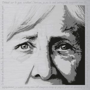 Marie - Sérigraphie sur plaque aluminium 90x90cm © Christian LEROY