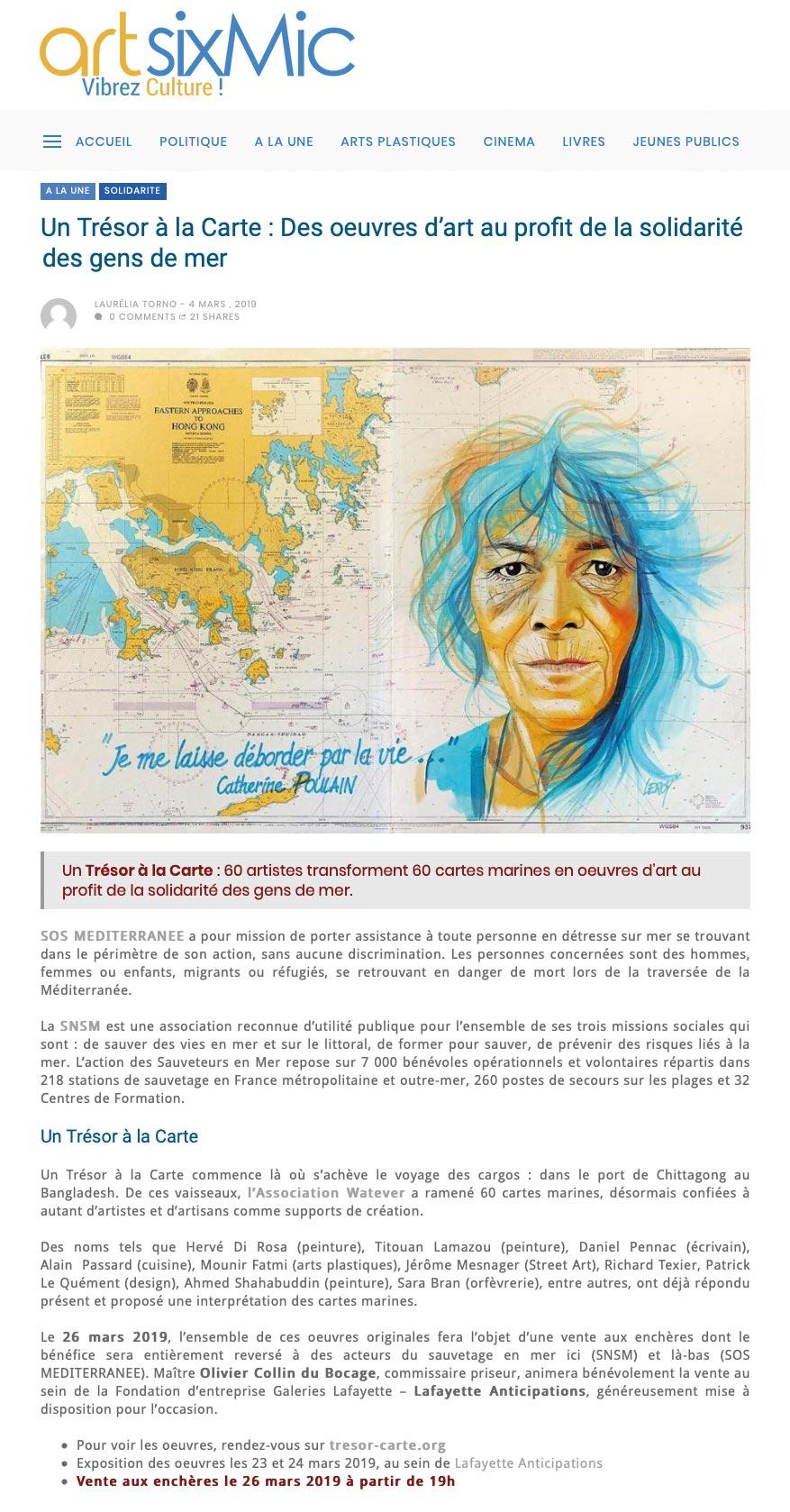ArtSixMic - Christian LEROY - Vente caritative WATEVER