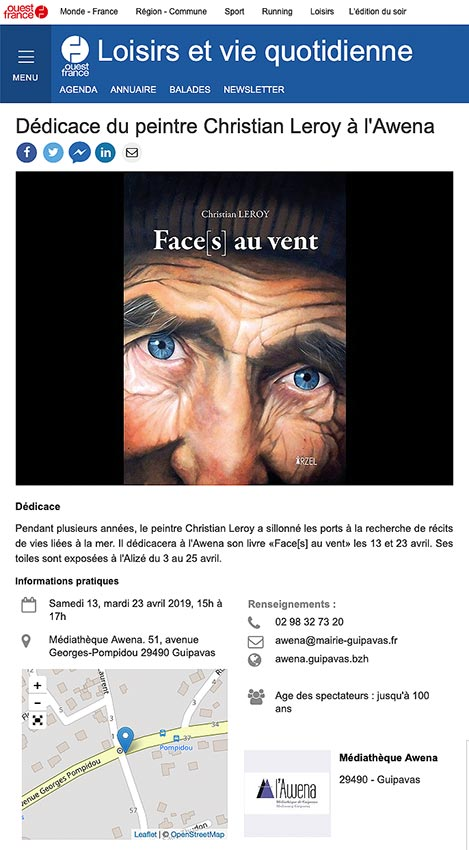 Ouest-France - Dédicaces Awena - 2019-04 © Christian LEROY